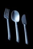 De lepel en het mes van de vork Stock Afbeelding