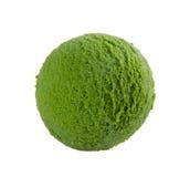 De lepel groene thee van het roomijs Stock Afbeelding