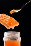 De lepel van de jam, van de wafel en van de thee Royalty-vrije Stock Fotografie