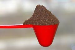 De Lepel van de koffie & Koffie Royalty-vrije Stock Afbeelding