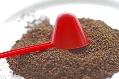 Koffielepel & Koffie royalty-vrije stock afbeeldingen