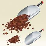De lepel van de koffie (vector) Stock Foto's
