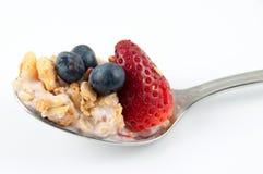 De lepel van het ontbijt Stock Foto's