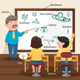 De Leraar Teaching His Students in het Klaslokaal Royalty-vrije Stock Afbeeldingen