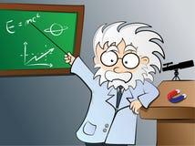 De leraar van de fysica in klasse royalty-vrije illustratie