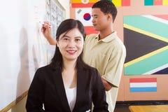 De leraar van de taal Stock Foto