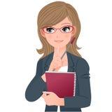 De leraar van Eyewearglazen wat betreft kin met index fingher royalty-vrije illustratie