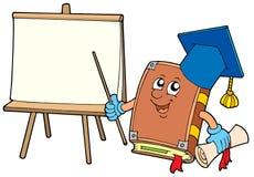De leraar van het boek met tablet royalty-vrije illustratie