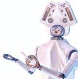 De leraar van de robotschool royalty-vrije illustratie