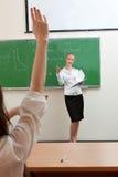 De leraar vraagt student Stock Fotografie