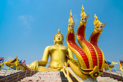 De leren riemtempel van Wat muang ANG in Thailand Stock Fotografie