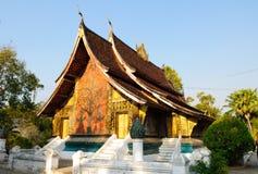 De leren riemtempel van Xieng van Wat, de klap van Luang Pra, Laos Royalty-vrije Stock Afbeelding