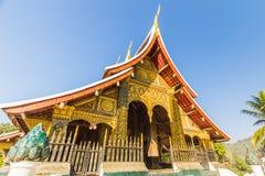 De leren riemtempel van Xieng van Wat, de klap van Luang Pra, Laos stock afbeelding