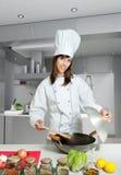 De les van de wok Stock Foto's