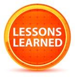 De lessen leerden Natuurlijke Oranje Ronde Knoop stock illustratie