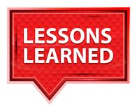 De lessen leerden nevelig roze bannerknoop toenam vector illustratie
