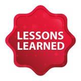 De lessen leerden de nevelige rozerode knoop van de starburststicker vector illustratie