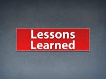 De lessen leerden Rode Banner Abstracte Achtergrond stock illustratie