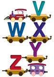 De letters en de getallen van de trein Royalty-vrije Stock Foto