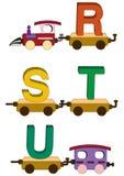De letters en de getallen van de trein Stock Foto's