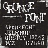 De letters en de getallen van het Grungealfabet Vector Royalty-vrije Stock Fotografie