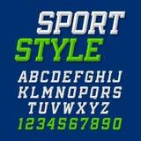De lettersoort van de sportstijl Royalty-vrije Stock Fotografie