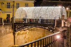De leugenaars overbruggen, Sibiu, Roemenië Stock Fotografie