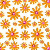 De leuke achtergrond van het bloempatroon Stock Foto