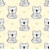 De leuke Achtergrond van het koala Naadloze Patroon stock illustratie