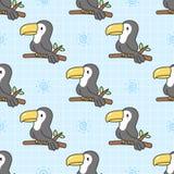 De leuke Achtergrond van het toekan Naadloze Patroon vector illustratie