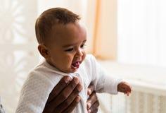 De leuke Afrikaanse Amerikaanse vectorreeks van de babyjongen Stock Foto's