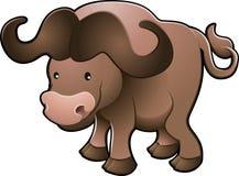 De leuke Afrikaanse Vector van de Buffels van de Kaap Stock Afbeelding