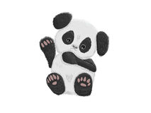 De leuke babypanda draagt Royalty-vrije Stock Afbeelding