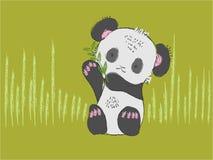 De leuke babypanda draagt getrokken hand Royalty-vrije Stock Foto's