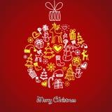 De leuke bal van Kerstmis Royalty-vrije Stock Afbeeldingen