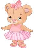 De leuke Ballerina van de Teddybeer Royalty-vrije Stock Foto