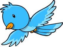 De leuke Blauwe Vector van de Vogel Royalty-vrije Stock Afbeeldingen