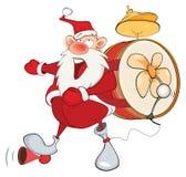 De leuke Eenmansband van Santa Claus stock illustratie