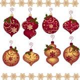 De leuke elementen van het Kerstmisontwerp Stock Foto's