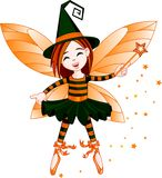 De leuke fee van Halloween Royalty-vrije Stock Afbeeldingen