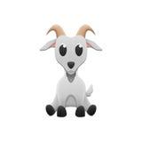 De leuke geit is dierlijk beeldverhaal in landbouwbedrijf en dierentuin van document besnoeiing Stock Afbeeldingen