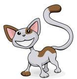 De leuke gelukkige illustratie van het kattenbeeldverhaal Stock Fotografie