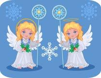 De leuke geplaatste engelen van Kerstmis royalty-vrije illustratie