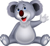De leuke golvende hand van het koalabeeldverhaal vector illustratie
