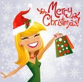 De leuke Helper van de Kerstman Stock Fotografie