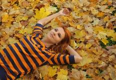 De leuke herfst royalty-vrije stock afbeeldingen