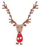 De leuke herten van Kerstmis Royalty-vrije Stock Foto