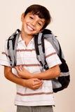 De leuke Jongen van de School stock foto