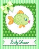 De leuke kaart van babyvissen trekt vector Stock Foto's