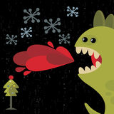De leuke kaart van het draak nieuwe jaar. Royalty-vrije Stock Fotografie